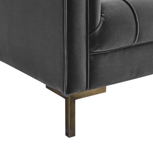 Isabella Grey Velvet Three Seater Sofa