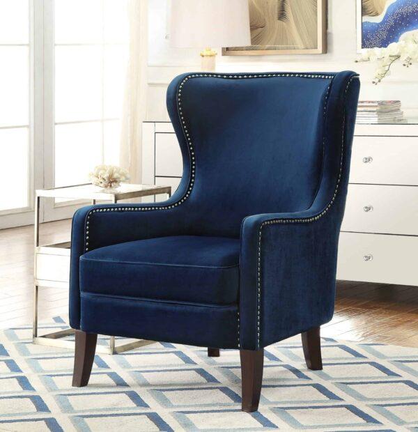 Orson Sapphire Blue Velvet Chair