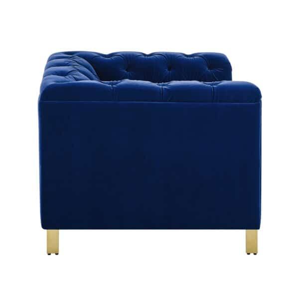 Charlotte Persian Blue Velvet Armchair