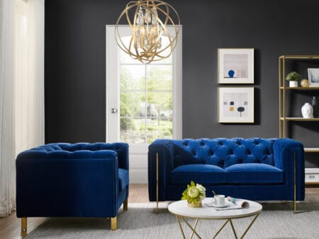 Charlotte Persian Blue Two Seater Sofa