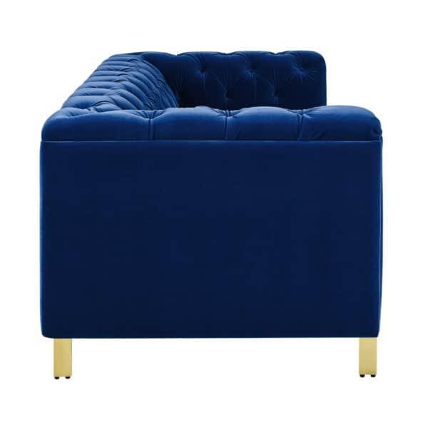Charlotte Persian Blue Velvet Three Seater Sofa