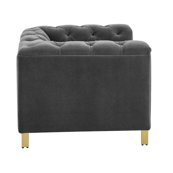 Charlotte Moonlight Grey Velvet Armchair