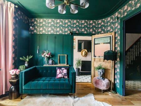 Isabella Pine Green Sofa